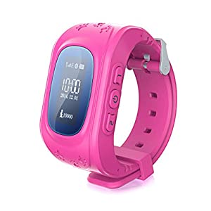Kufit Colorful Child GPS Traker Watch Double Way Talk GPRS Realtime Positon SOS Bluetooth Anti-loss Remote Monitoring PT-AW2