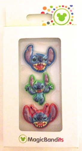 Disney Parks Stitch Magic Band Bandits Set of 3 Charms