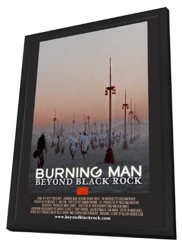 Burning man beyond black rock 11 x 17 framed movie poster for Dujardin salomone
