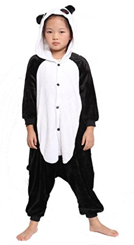 Red Eye Panda Kid's Costume Cosplay Anime Onesie Children Kigurumi Pajamas