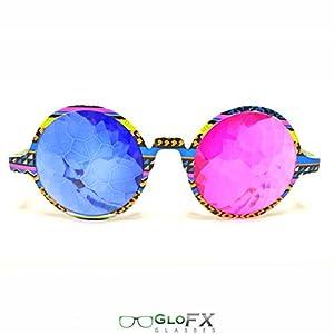 GloFX Tribal 3D Kaleidoscope Glasses- Sapphire & Magenta from GloFX