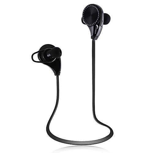 Moobom Auriculares Bluetooth Estéreo Auriculares Cancelación De Ruido Micrófono Integrado Inalámbrico Sweatproof Correr Gimnasio Deportes Auriculares Para iPhone Común dispositivos