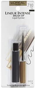 L'Oreal Paris Lineur Intense Brush Tip Liquid Eyeliner, Black, 0.24 Ounces