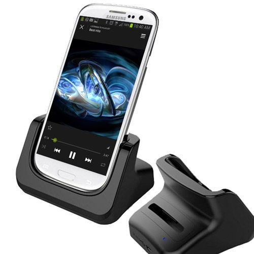 Rnd Dock And 2Nd Battery Charger For Samsung Galaxy S4 (Compatible Without Or With A Slim-Fit Case)(Black)