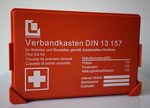 betriebs verbandskasten premium l llmann erste hilfe koffer din 13157 verbandkasten wandhalter. Black Bedroom Furniture Sets. Home Design Ideas