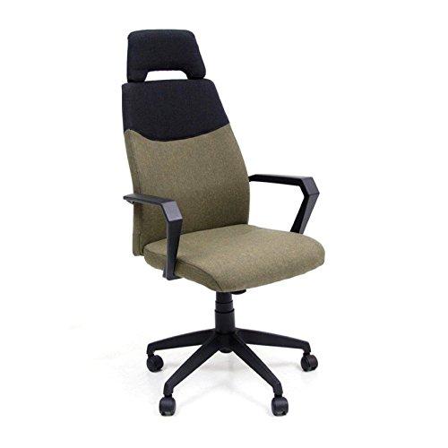 Poltrona ufficio direzionale verde in tessuto e nylon 61x58xH115 cm Start-Up