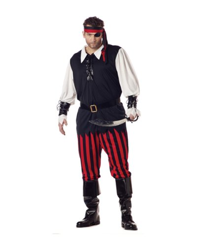 Cutthroat Pirate Costume (Men's Adult XX-Large 48-52) (Plus Size)
