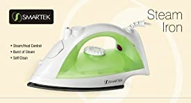 Smartek USA ST-1200G 1200 watt Steam Iron, Green