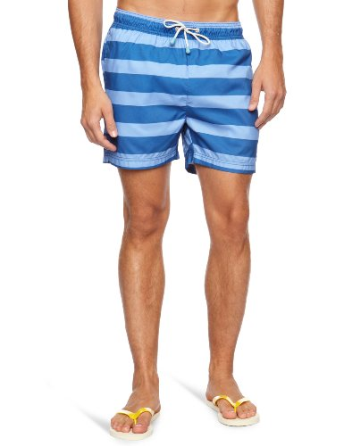 Oiler+Boiler Tuckernuck Classic Swimshort Blue Hoops Men's Trunks True Blue Hoops X Large