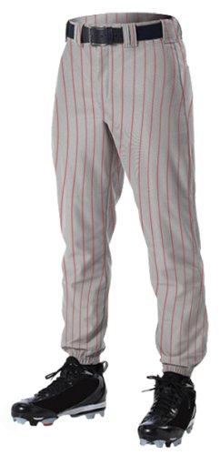 Alleson PROWP Solid Pinstripe Custom Baseball Pants GR/SC - GREY/SCARLET A3XL утюг scarlet sc si30p04