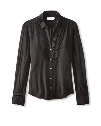 Velvet by Graham & Spencer Women's Pintuck Tuxedo Shirt