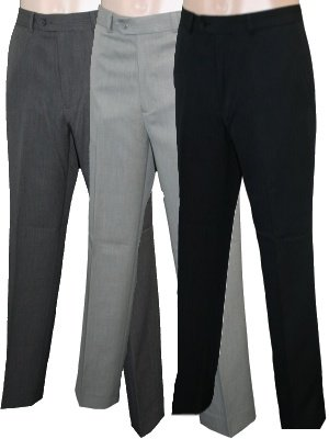 Mens Beige Carabou Fialle Easy Care Trousers 44S 44/29