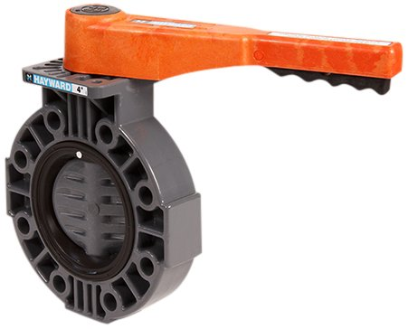 """Hayward By Series Pvc Butterfly Valve With Lever Handle, Epdm Liner, 3"""""""