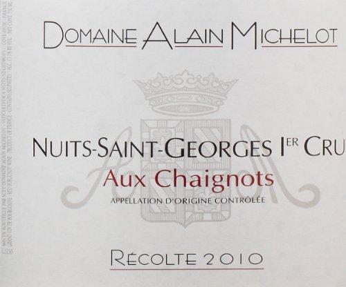 """2010 Domaine Alain Michelot """"Aux Chaignots,"""" Nuits-Saint-Georges 1Er Cru 750 Ml"""