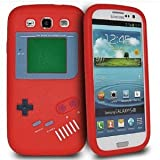 Nintendo Game Boy Soft Skin Silicone Case for Samsung Galaxy S3 i9300 - Red