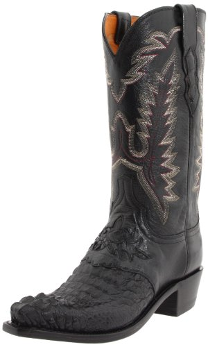 1883 by Lucchese Men's N1110 5/4 Western Boots,Black,10.5 D(M)US