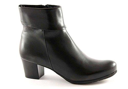 GRUNLAND KUBA PO0773 nero scarpe stivaletti donna tronchetti zip pelle 38