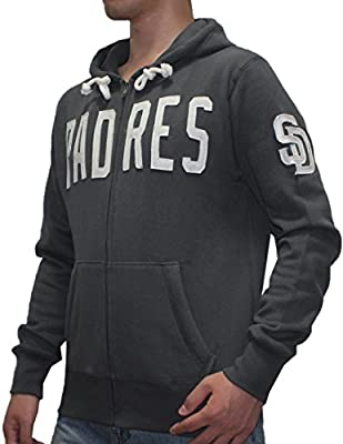 NHL Mens San Diego Padres Athletic Zip-Up Hoodie / Jacket