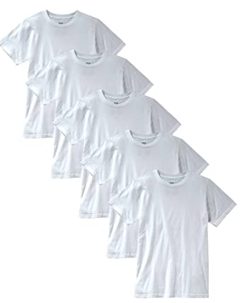 Anvil Mens American Event Seamed Collarette Tee Shirt, White ( 5 Packs ) by Anvil