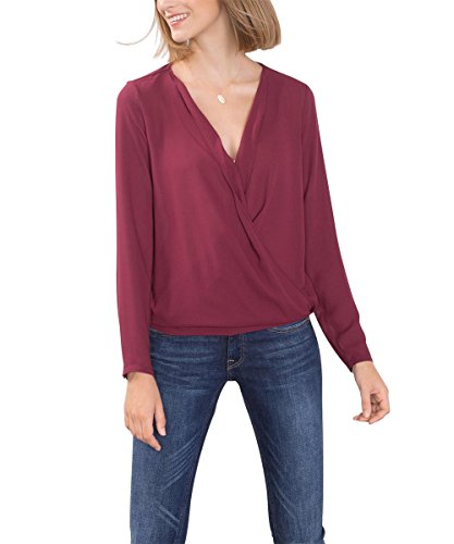 ESPRIT 086EE1F035, Camicia Donna, Rosso (BORDEAUX RED), 36