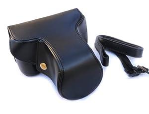 EzFoto Black Simulated Leather Case for Panasonic Lumix DMC-GX1