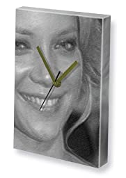 AMY SMART - Canvas Clock (LARGE A3 - Signed by the Artist) #js001