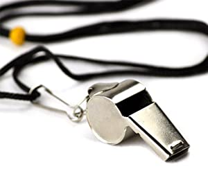 Buy Crown Sporting Goods Stainless Steel Coach Whistle with Lanyard by Crown Sporting Goods
