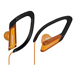 Panasonic RP-HS200E-D Earhook WaterResistant Sports Headphone (Orange)