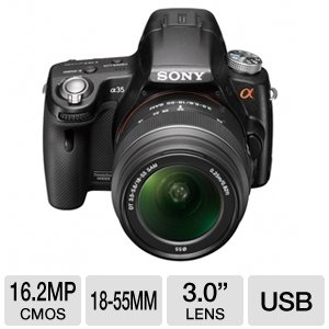 Sony Alpha SLT-A35 (with 18-55mm Lens) is one of the Best Digital SLR Cameras Overall Under $700