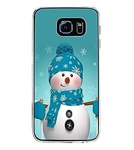 Snowman 2D Hard Polycarbonate Designer Back Case Cover for Samsung Galaxy S6 Edge+ :: Samsung Galaxy S6 Edge Plus :: Samsung Galaxy S6 Edge+ G928G :: Samsung Galaxy S6 Edge+ G928F G928T G928A G928I