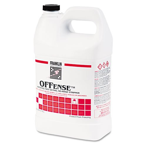 Franklin Cleaning Technology® – OFFense Floor Stripper, 1 gal. Bottle, 4/Carton – Sold As 1 Carton – Penetrates quickly and dissolves difficult-to-remove floor finish buildup.