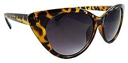 ELS UV400 Protection Gradient Yellow Cat-Eye Oval Women, Girls Sunglasses Shades (S-JN287-YELLOW-TINTED)