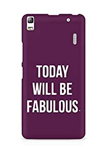 AMEZ today will be fabulous Back Cover For Lenovo K3 Note