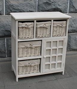meuble en bois 5 tiroirs paniers avec housses amovibles 1 porte cuisine maison. Black Bedroom Furniture Sets. Home Design Ideas