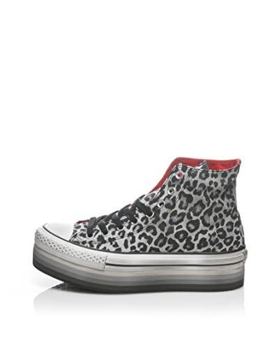 CONVERSE Sneaker A/S Hi Platform Eva Canvas Pri [Grigio/Leopardo]