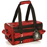 The Ultimate Sherpa pet dog cat carrier Bag Medium Red with Black Trim Airline Approved Pet Carrier