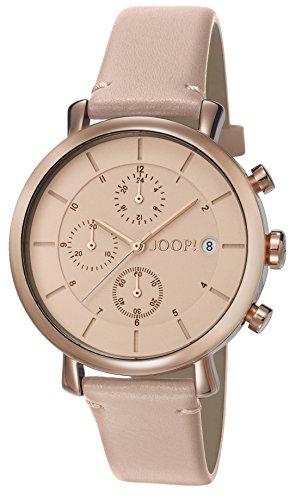Joop. Reloj De Pulsera Mujer Nude Kiss Cronógrafo Cuarzo Piel jp101772011