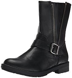 Nine West Melba Ankle Height Pull On Boot (Little Kid/Big Kid), Black, 1 M US Little Kid