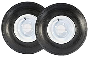 Two Golf Cart Tires & Rims 18 X 8.5 X 8 18-850-8 18X8.50-8 White 4 Lug