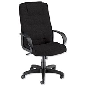 Trexus Intro Managers Armchair Back H720mm W530xD510xH470 570mm Charcoal Ref 10568 01       Office ProductsCustomer review