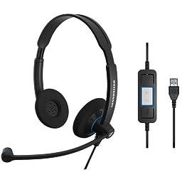 Sennheiser SC 60 USB CTRL SC 30/60 UC Deployment Headset Range (Binaural UC headset with Call Control)