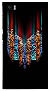 Great 3D multicolor printed protective REBEL mobile back cover for Xiaomi Mi3 - D.No-DEZ-1199-xm3