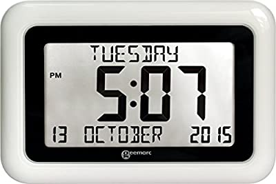 Viso 10- Extra Large, Easy Read Clock. Helpful For Dementia And Alzheimer Sufferers