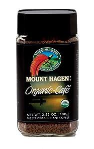 Mount Hagen Organic Freeze Dried Instant Coffee, 3.53-Ounce Jars (Pack of 6) from Mount Hagen