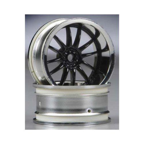 Hpi Racing 3288 Work Xsa 02C Wheel, 9Mm Offset, Chrome And Black