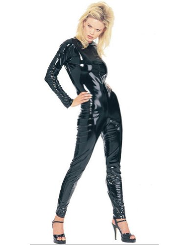 Costume-Accessory Kittysuit Leather Like Black Med Halloween Costume Item - 1 size