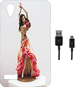BKDT Marketing Printed Soft Back Cover Combo for Oppo Mirror 5 A51W With Charging Cable