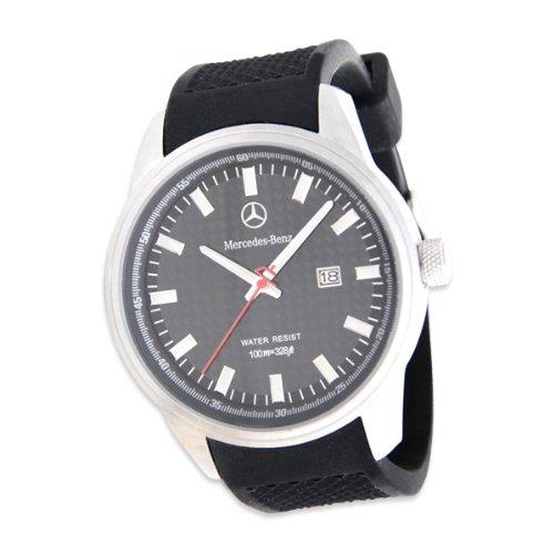 Genuine mercedes benz men 39 s carbon fiber watch black for Mercedes benz watch for sale