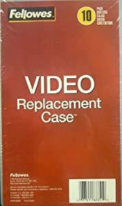 Fellowes VHS Clamshell Replacement Cases, Clear - Pack of 10