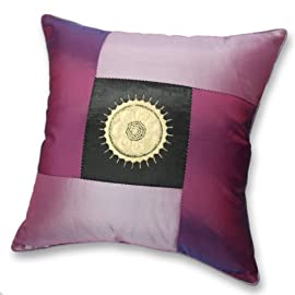 Silky Decorative Embroidered Oriental Cushion Cover / Pillow Case